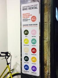 Det morede mig lidt, at man i denne butik ikke vælger cykel efter model - men efter farve.