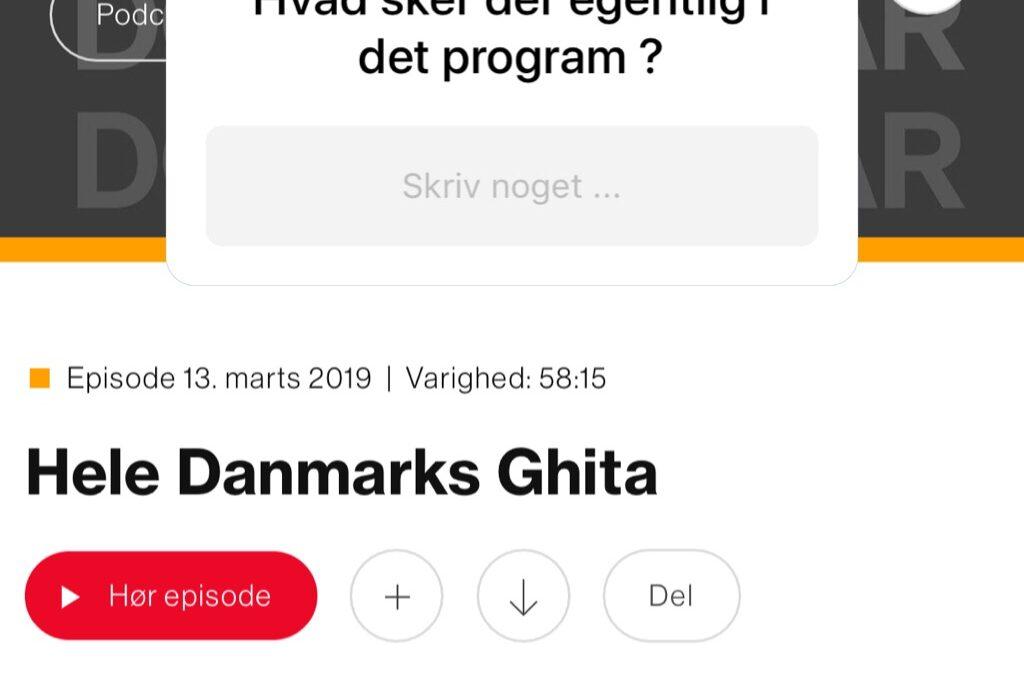 InstaLive: Ghita Nørby – Iben Maria Zeuthen – Radio24syv